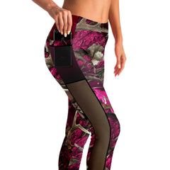 Camo & Country Women's Pink Camo Mesh Pocket Leggings