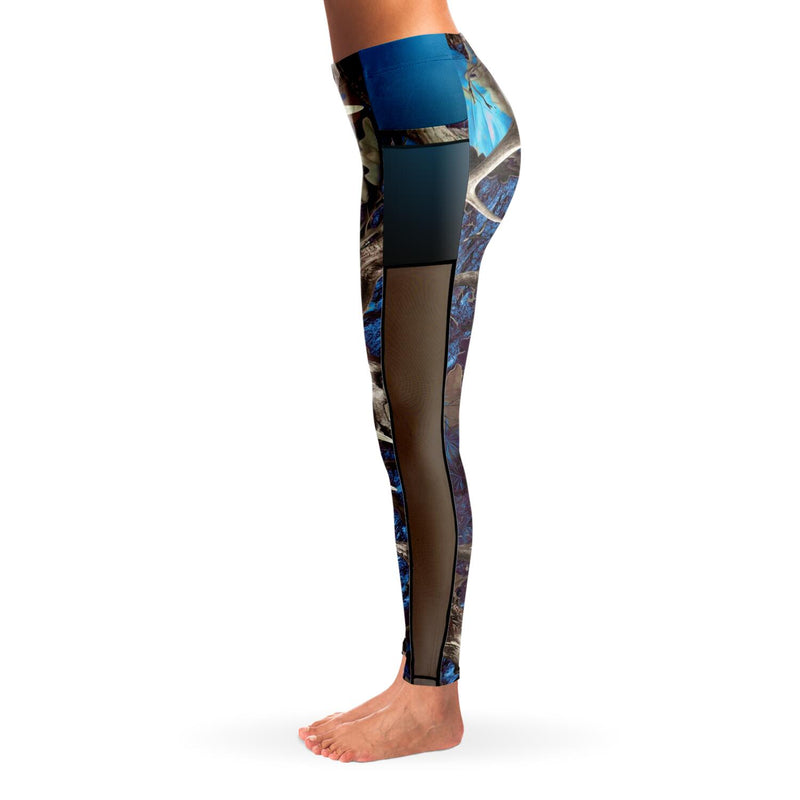 Camo & Country Women's Blue Camo Mesh Pocket Leggings