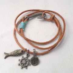 Brown Fish Wrap Bracelet