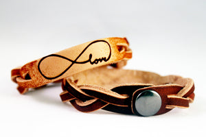 Infinity Love Leather Bracelet