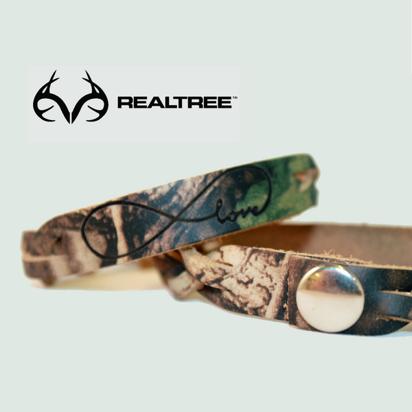 Camo Infinity Love Leather Bracelet