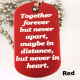 Together Forever Dog Tag Necklace