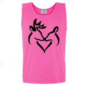 Black Snuggling Buck & Doe Tank (sizes run big)