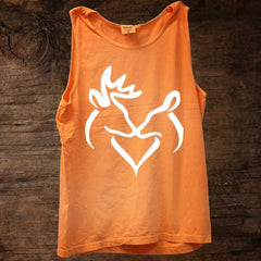 White Snuggling Buck Doe Tank (sizes run big)