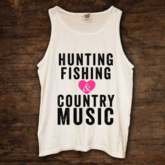Hunting Fishing Country Music Tank (sizes run big)