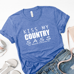 Women's Kiss My Country Sass Tee