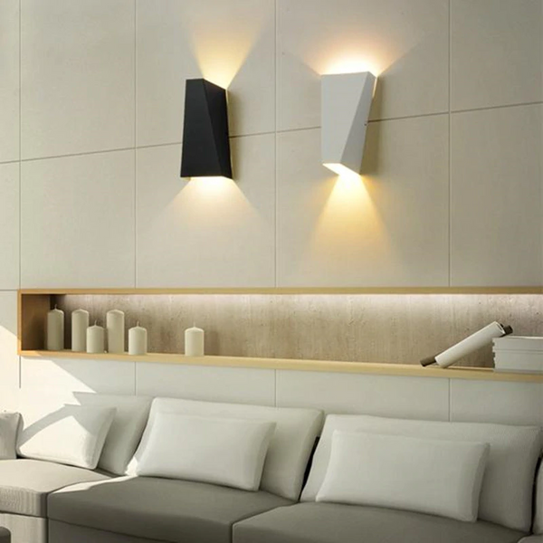 Dual-Head Geometric LED Wall Lamp