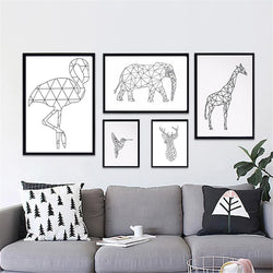 Geometric Animal Print Canvas Wall Art