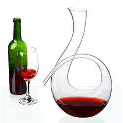 Hand-Blown Wine Decanter Glass