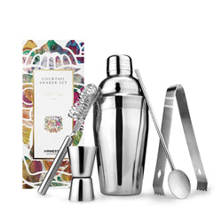 Cocktail Shaker Kit 5 Piece Set In Stainless Steel