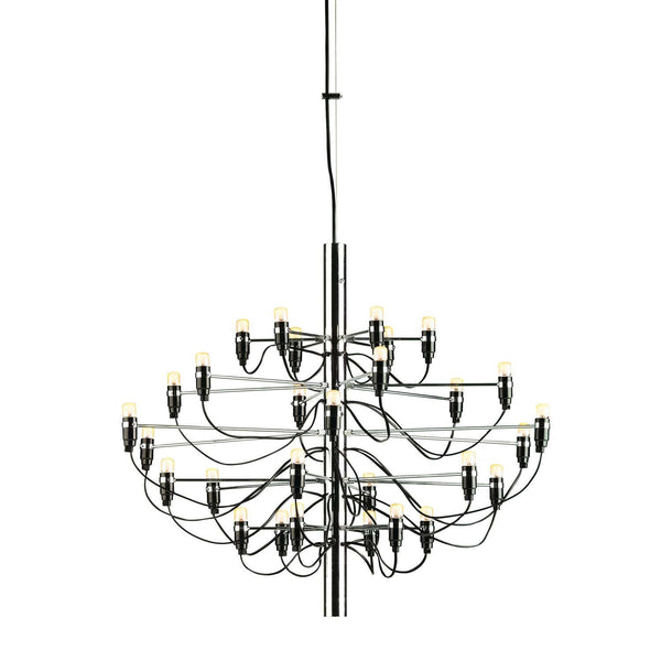 Flos Gino Sarfatti Silver Chandelier Replica In 3 Sizes