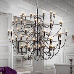 Flos Gino Sarfatti Silver Chandelier Replica in 3 Sizes - Axel & Jones