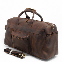Genuine Leather Men's Duffle Bag
