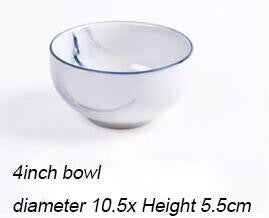 Marble Grain Serving Dishes In 4 Sizes
