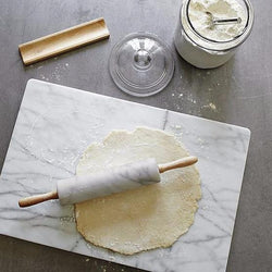 Natural Marble Rolling Pin with Wooden Handles
