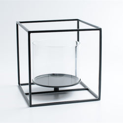 Cubic Metal Tealight Candle Holder - Large Cube - Axel & Jones