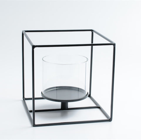 Cubic Metal Tealight Candle Holder - Cube - Axel & Jones