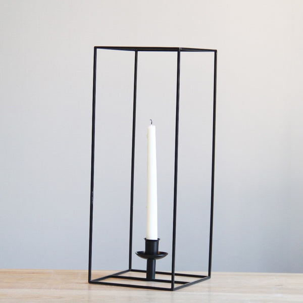 Cubic Metal Tealight Candle Holder - Large Rectangle - Axel & Jones