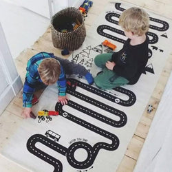Monochrome Adventure Train Track Play Mat - Axel & Jones