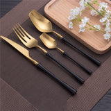 4 Piece Stainless Steel Cutlery Flatware Set