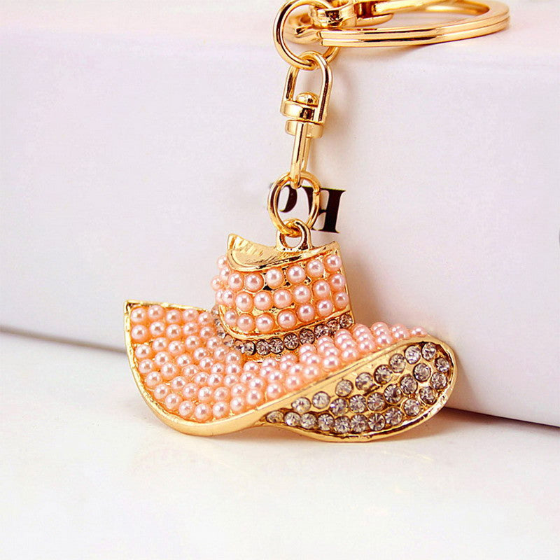 f10b6c4f6597b Queen's Hat Crystal Rhinestone Keyring Charm Pendant Purse Bag Key Ring  Chain Keychain SN9