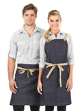 billy - denim bib apron