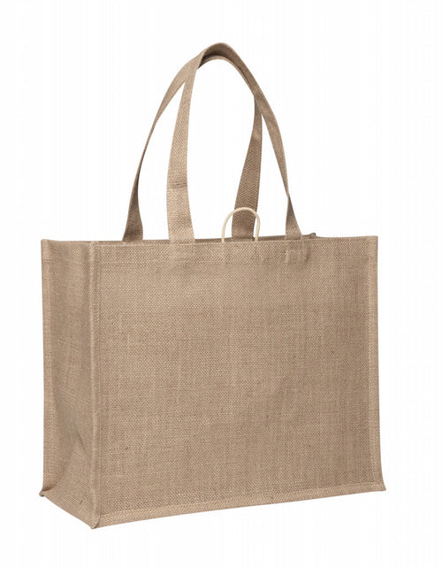 eco jute/hessian - starched shopper bag