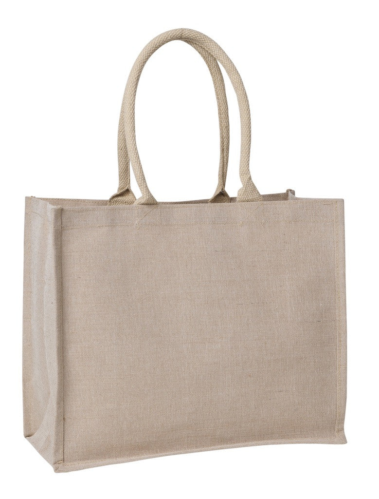 eco jute/hessian - laminated shopper bag