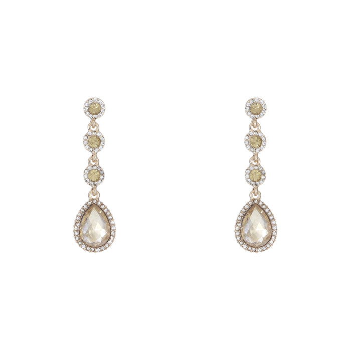 Crystal Tear Drop Earring