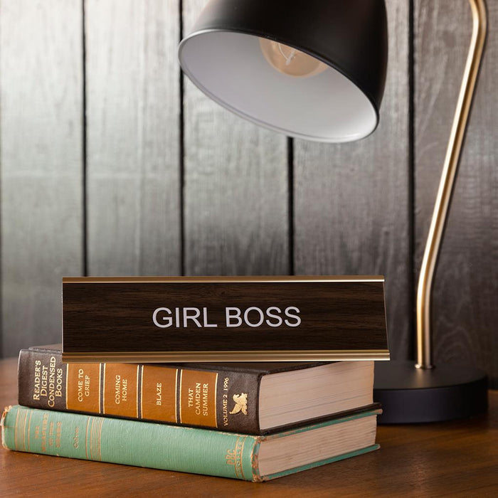 Girl Boss Desk Plate