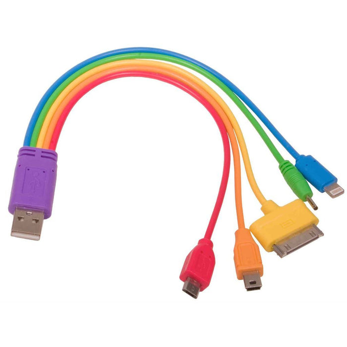 5 in 1 Rainbow Adaptor Charger Cable
