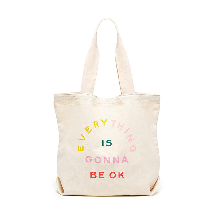Gonna Be OK Big Canvas Tote