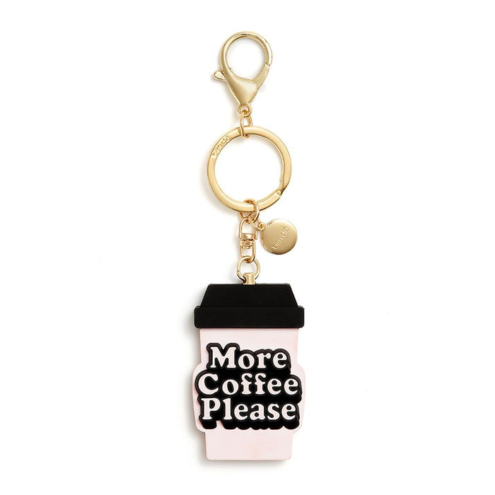 More Coffee Please Silicone Keychain