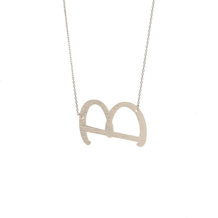 B Pendant Necklace