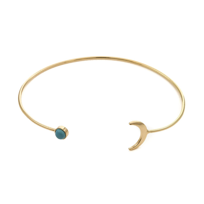 Turquoise Moon Cuff