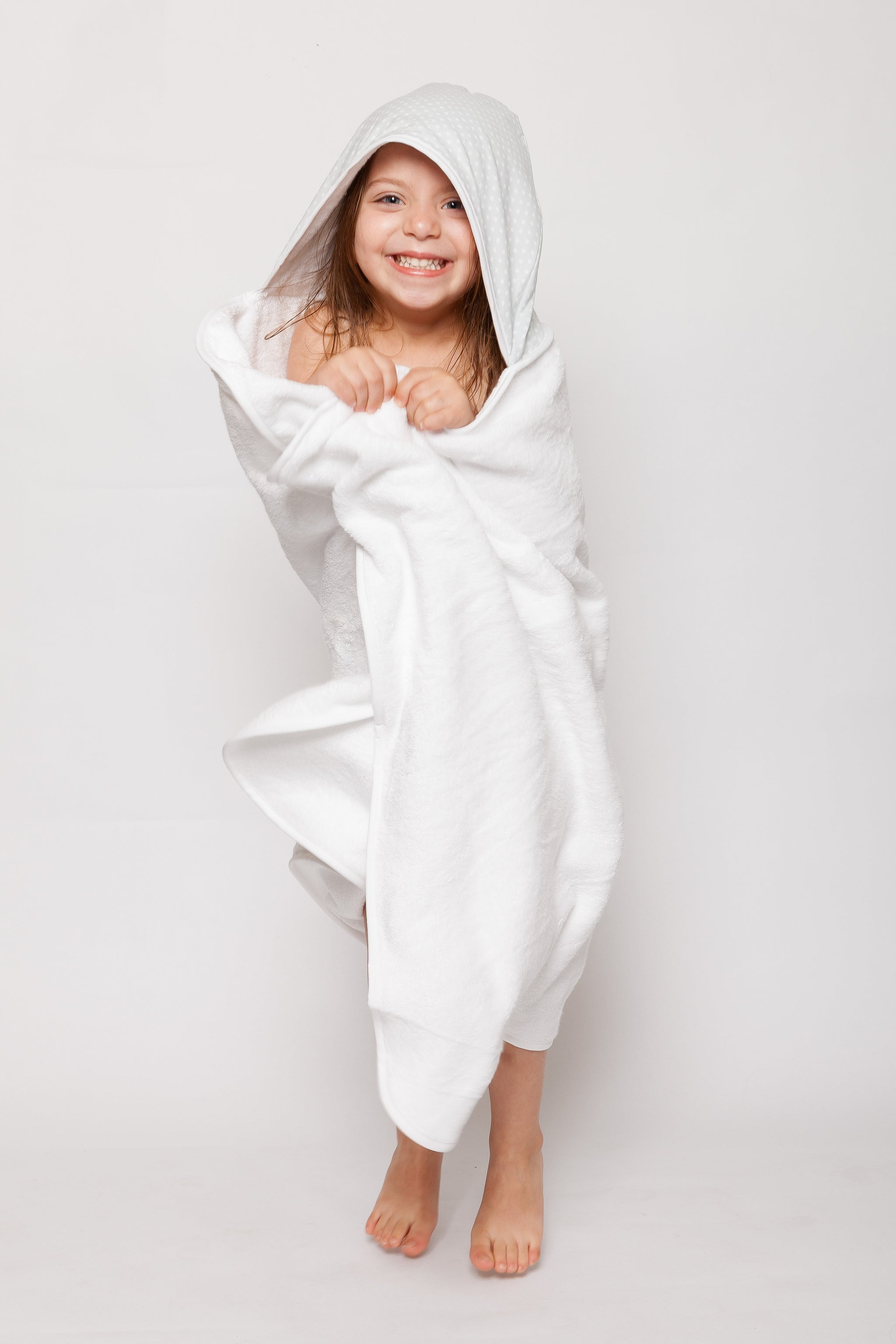 Kid with Towelling Stories Hooded Toddler Bath Towel