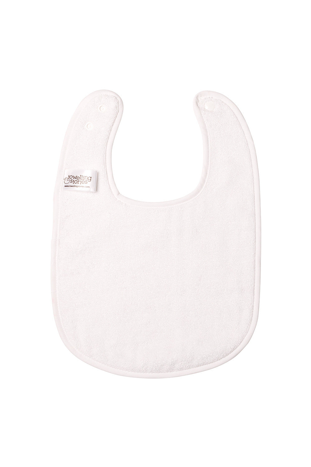 Large Bamboo Bib With Adjustable Neck Clasps