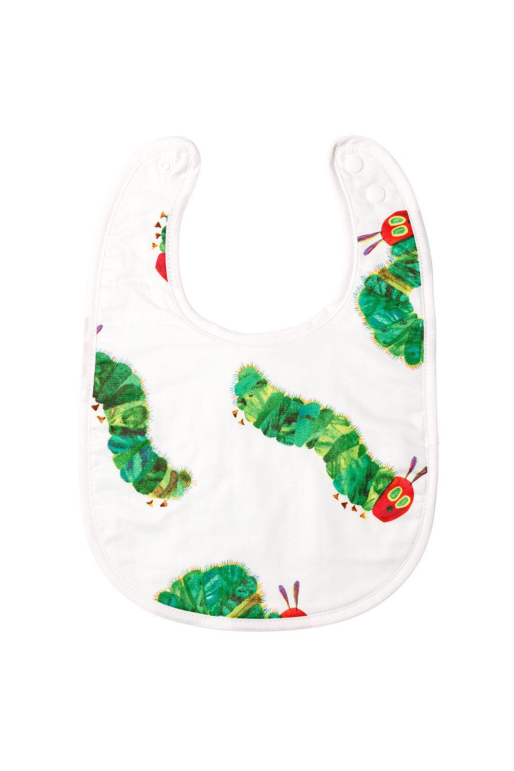 Bamboo Bib For Baby - Very Hungry Caterpillar Pattern