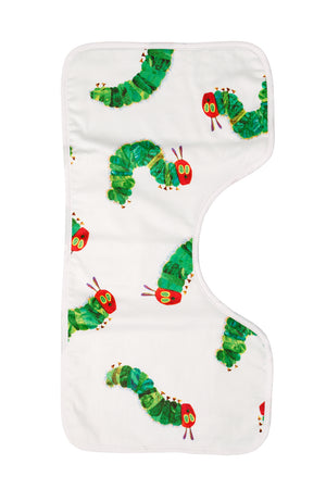 Organic Burp Cloths Hungry Caterpiller Pattern