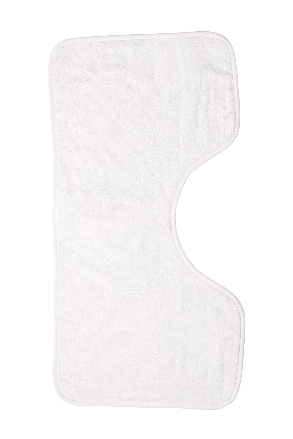 Plain white Rectangular Burp Cloths