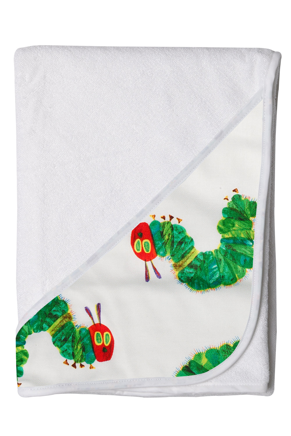 Hands-free Baby Bath Towels with Hungry Caterpiller Pattern Hood