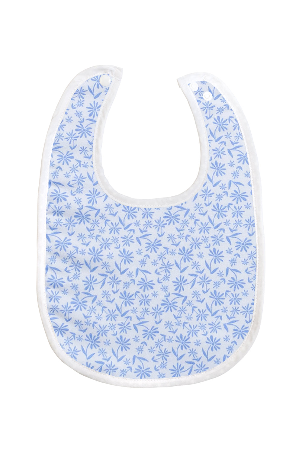 Bamboo Baby Bibs with Blue Floral Pattern