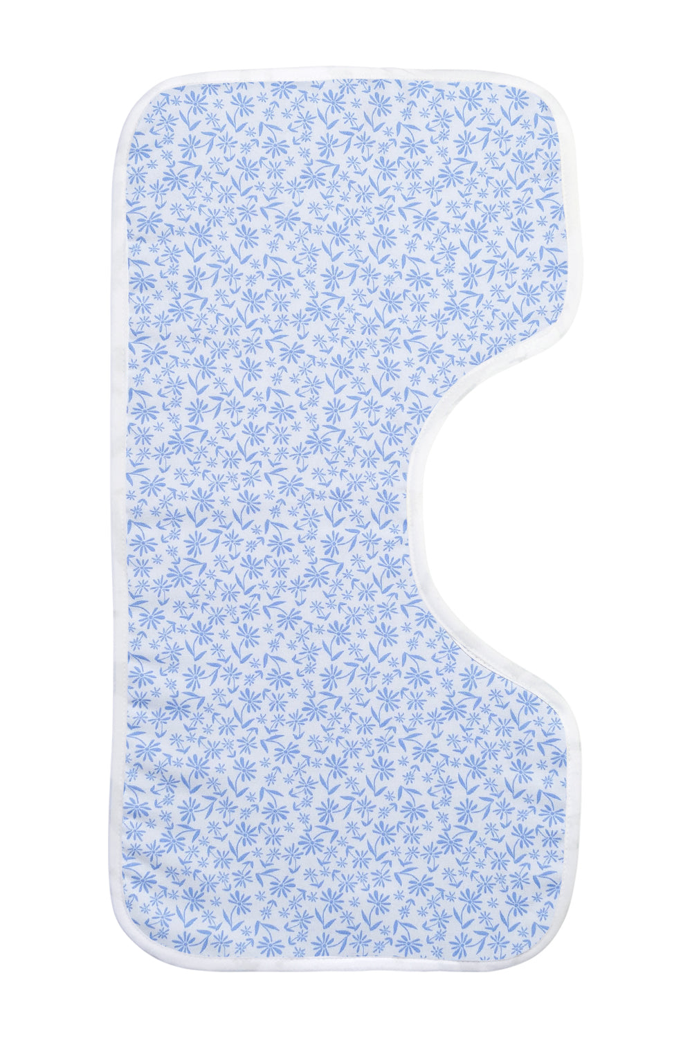Organic Burp Cloths Blue Floral Pattern