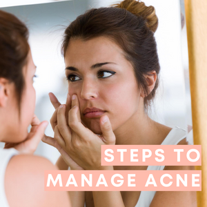 Steps to manage acne and breakouts: How to prevent it and how to treat breakouts.