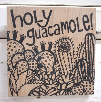 Holy Guacamole Ply Print - Natural