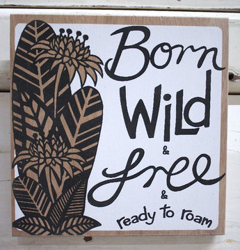 Born Wild Ply Print - White