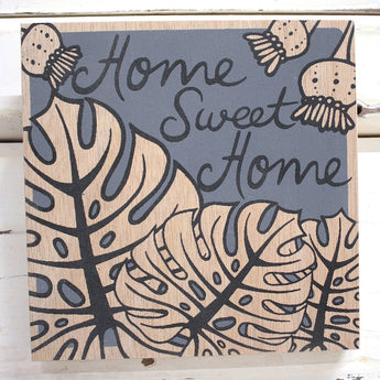 Home Sweet Home Ply Print - Charcoal