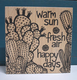 Warm Sun Ply Print - Natural