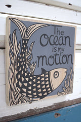 Ocean Motion Ply Print - Charcoal