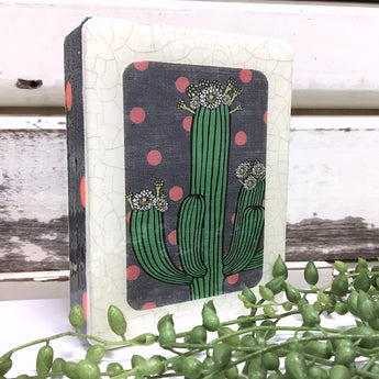 Mini Woodblock - Saguaro Cactus Spots